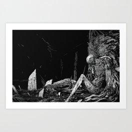 Defeated Art Print