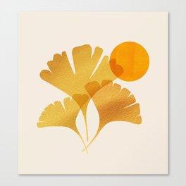 Abstraction_SUN_Ginkgo_Minimalism_001 Canvas Print