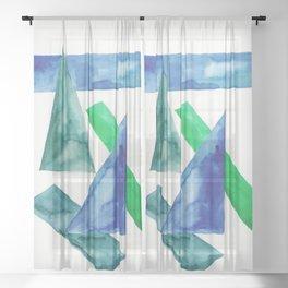 6    Abstract Geometric   191015 Sheer Curtain