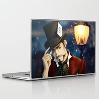 mad hatter Laptop & iPad Skins featuring THE MAD HATTER by FISHNONES