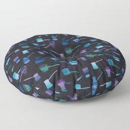 Blue coffee gezve Floor Pillow