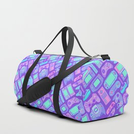 Video Game Controllers in Cool Colors Duffle Bag