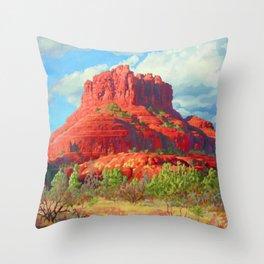 Big Bell Rock Sedona by Amanda Martinson Throw Pillow