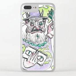 Dismantled Wizard Clear iPhone Case