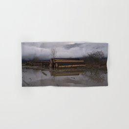 Timber Logs With A Foggy Mountain View Hand & Bath Towel