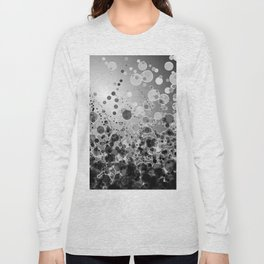 Black and White Spotted2-Grey Long Sleeve T-shirt