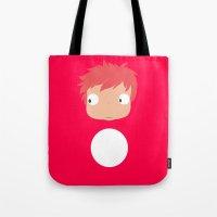 ponyo Tote Bags featuring Ponyo likes you! by Mariotaro