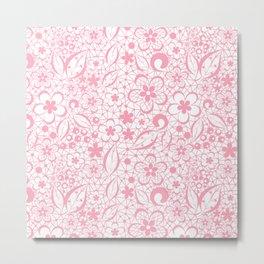 Pink , fishnet , lace Metal Print