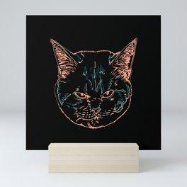 Scottish Fold British Shorthair Mix Mini Art Print