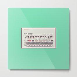 Roland TR-909 Rhythm Composer Vector Illustration Metal Print
