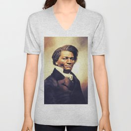 Frederick Douglass, Literary Legend Unisex V-Neck