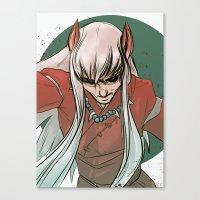 inuyasha Canvas Prints featuring Inuyasha by LaurenceBaldetti