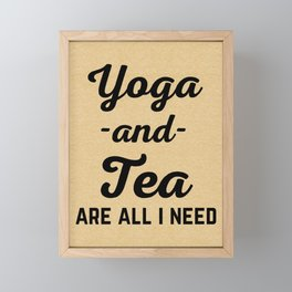 Yoga And Tea Funny Quote Framed Mini Art Print