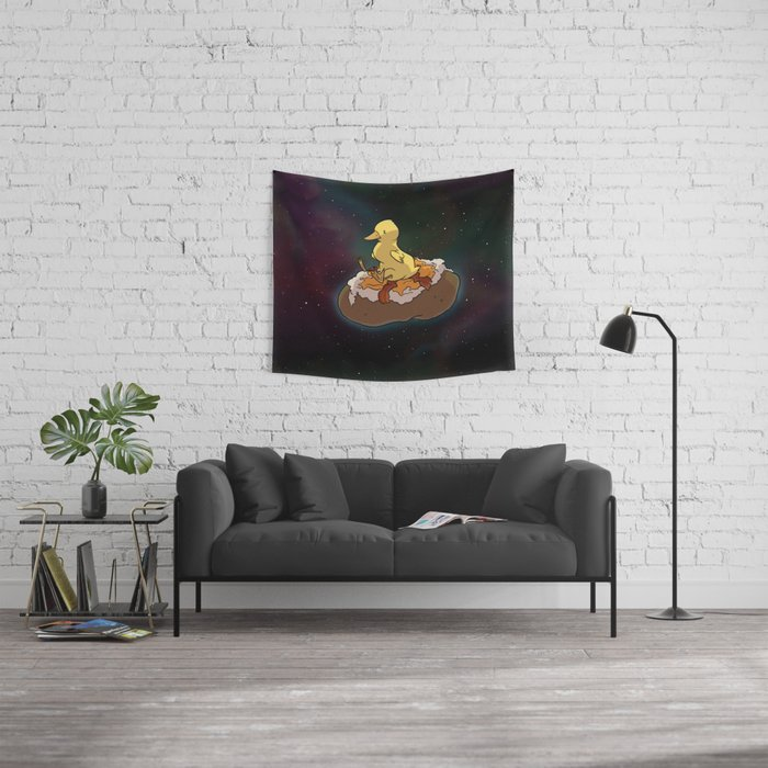 Space Duck Wall Tapestry