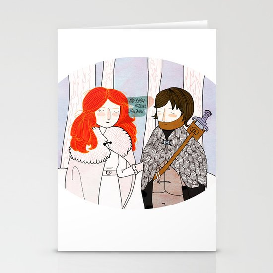 You Know Nothing Stationery Cards
