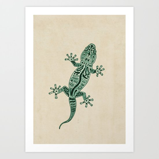 Ornate Lizard Art Print