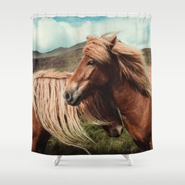 Horses in love Shower Curtain