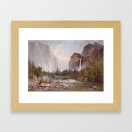 Fishing In The Yosemite Valley 1891 By Thomas Hill | Reproduction Framed Art Print