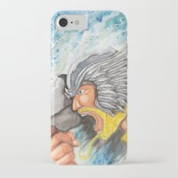 thor iPhone & iPod Cases featuring Thor by Kirsten L George
