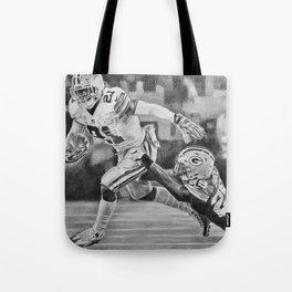 Zeke Elliott drawing by Candida- Cowboys Tote Bag