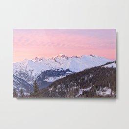 Mont Blanc mountain Metal Print