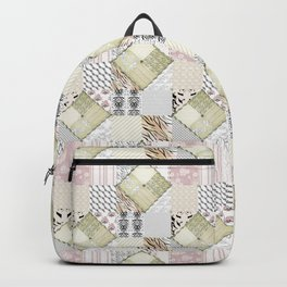 Patchwork in pastel colours Backpack