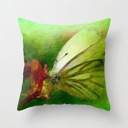 Butterfly's inn version 2 Throw Pillow