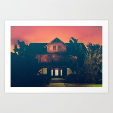 I'm Home in Los Angeles Says the Ghosts Art Print