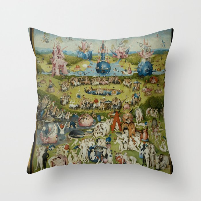 The Garden Of Earthly Delights (Extreme High Quality) Throw Pillow