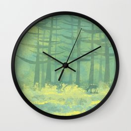 The Clearing in the Forest Wall Clock