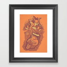 The power of meditation Framed Art Print