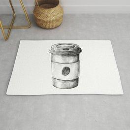 Coffee To Go Hand Drawn Rug