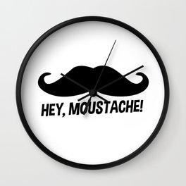 hey moustache Wall Clock