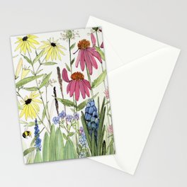 Flowers on White Painting Stationery Cards