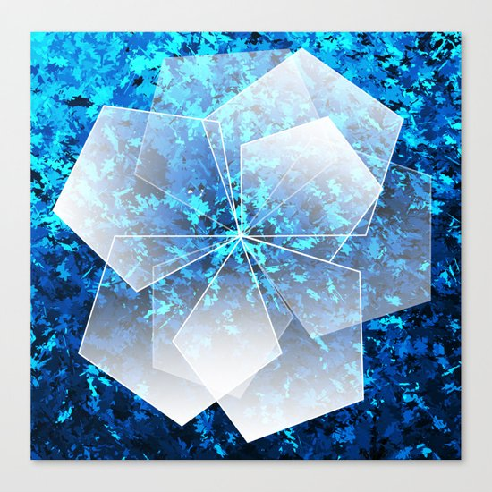 Geometric Ice Flower Canvas Print