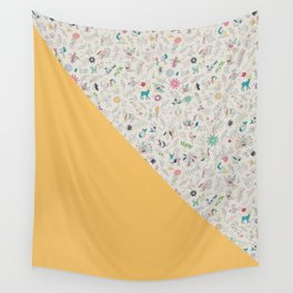 Pez Otomi yellow by Ana Kane Wall Tapestry