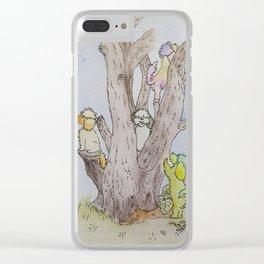 Tree Fun Clear iPhone Case