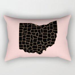 Ohio map Rectangular Pillow