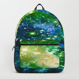 Fox Fur Nebula Teal Green Backpack