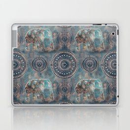 Elephant Ethnic Style Pattern Teal and Copper Laptop & iPad Skin