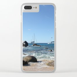 Sailing Boats at the Baths, BVI Clear iPhone Case