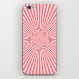 Pale Pink Sunbeams iPhone Skin