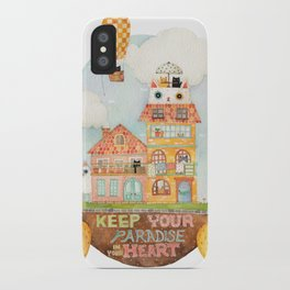 Keep your paradise in your heart iPhone Case