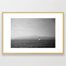 Solitary Sailing Framed Art Print