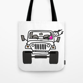 Jeep Wave White - Girl Tote Bag