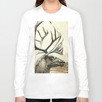 reindeer Long Sleeve T-shirts featuring Reindeer by ZenzPhotography