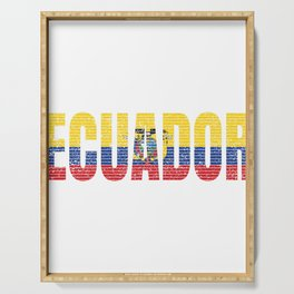 Ecuador Flag Vintage Ecuadorian National Country Gift Serving Tray