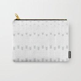 grey geometric line background #society6 #decor #buyart #artprint Carry-All Pouch