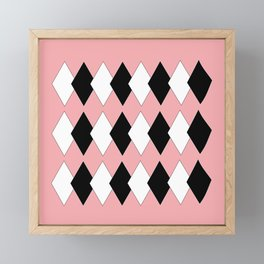 Diamonds On Pink Framed Mini Art Print