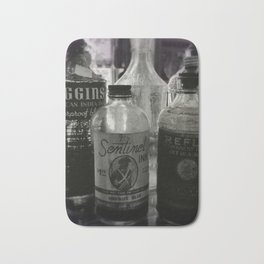 Vintage Ink Bottles Bath Mat